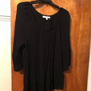 Fever XL black peasant blouse